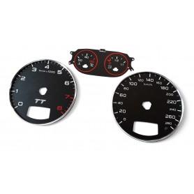 Audi TT 2 8J conversion tacho dials, face counter gauges MPH to KMH