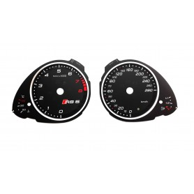 Audi A5 in RS5 style - replacement tacho dials