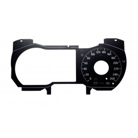 Honda Accord 10, X  - Replacement tacho dials, face counter gauges converted from MPH to Km/h