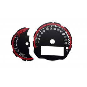 Mini 3 - Replacement face gauge, tacho dial - Works design for standard version