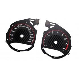 MERCEDES BENZ GT AMG W190 - tarcze licznika zamiennik z MPH na km/h