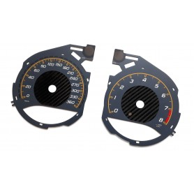 MERCEDES BENZ AMG GT C  - Replacement instrument cluster face gauges counter dials MPH to km/h