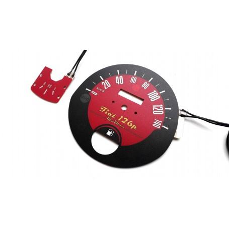 FIAT 126p glow face gauge design 3