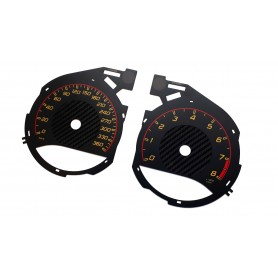 MERCEDES BENZ AMG GT R  - Replacement instrument cluster face gauges counter dials MPH to km/h