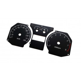 Hyundai Coupe 2 FL - Replacement dial - face gauge converted from MPH to Km/h