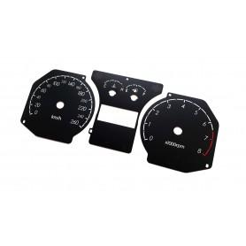 Hyundai Coupe 2 FL - tarcze licznika zamiennik z MPH na km/h