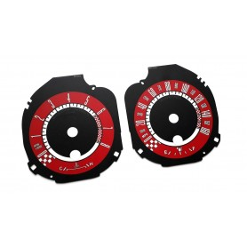 Ford Mustang (from 2015) - custom replacement instrument cluster dials counter gaugesMPH to km/h