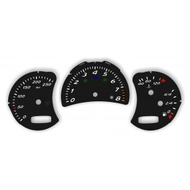 Porsche Cayman - Replacement tacho dials gauges - converted from MPH to Km/h counter