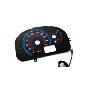 Fiat Seicento glow face gauge design 3 plasma tacho glow gauges tachoscheiben dials