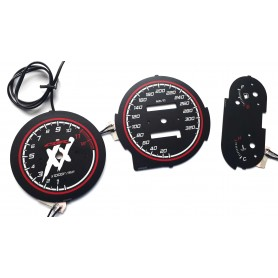 Honda CBR 1100XX Blackbird - glow face gauges tacho design 2