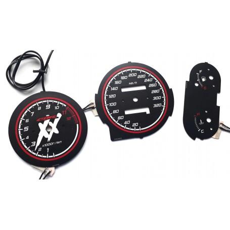 Honda CBR 1100XX Blackbird - glow face gauges tacho design 2