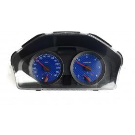 VOLVO C30, S40, V50, C70 - face gauge instrument cluster dials Blue Carbon Design