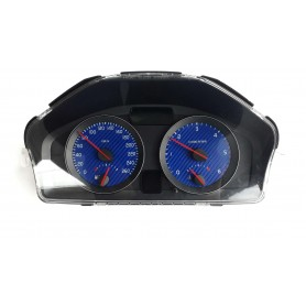 VOLVO C30, S40, V50, C70 - face gauges instrument cluster dials Blue Carbon Design Counter