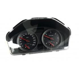 VOLVO C30, S40, V50, C70 - face gauge instrument cluster dials DARK Carbon Design