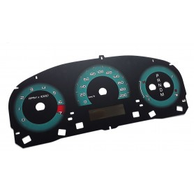 Ford Fusion USA 2010-2012 - face gauges dials instrument cluster dials replacement from MPH to km/h counter