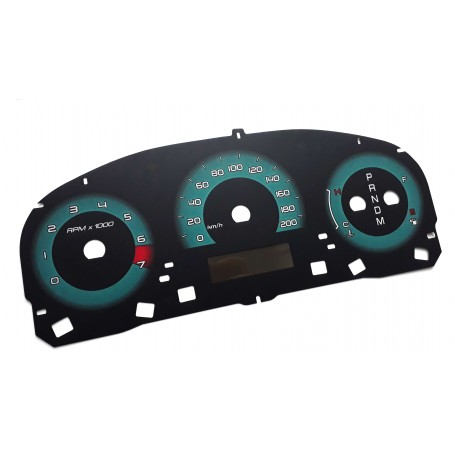 Ford Fusion USA 2010-2012 - face gauge instrument cluster dials replacement from MPH to km/h