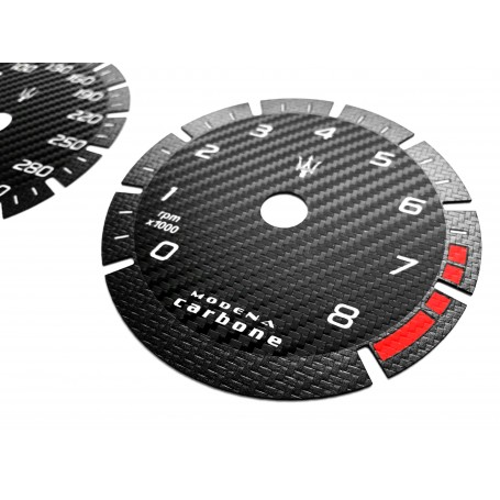 copy of Maserati Levante - Modena Carbone - Replacement tacho dials - converted from MPH to Km/h