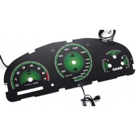 Saab 9-5 / 9-3 / Aero design 2 plasma tacho glow gauges tachoscheiben dials