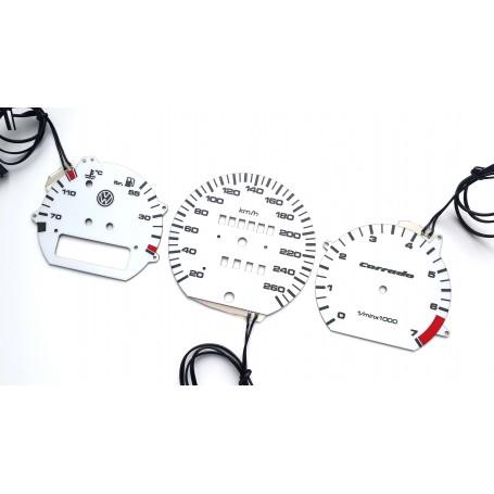 Volkswagen Corrado wzór 4 świecące tarcze licznika INDIGLO