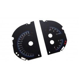 Jeep Grand Cherokee SRT Trackhawk - replacement instrument cluster dials face gauge MPH to km/h