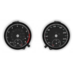 Volkswagen Atlas - Replacement tacho dials gauges - converted from MPH to Km/h // tacho counter usa