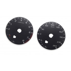 Subaru Outback 2020 - now - Replacement tacho dials - converted from MPH to Km/h