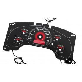 GMC Savana / Chevrolet Astro - tarcze licznika zamiennik INDIGLO z MPH na km/h WZÓR 2