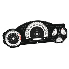 Toyota FJ Cruiser - replacement tacho dial converted from MPH to Km/h