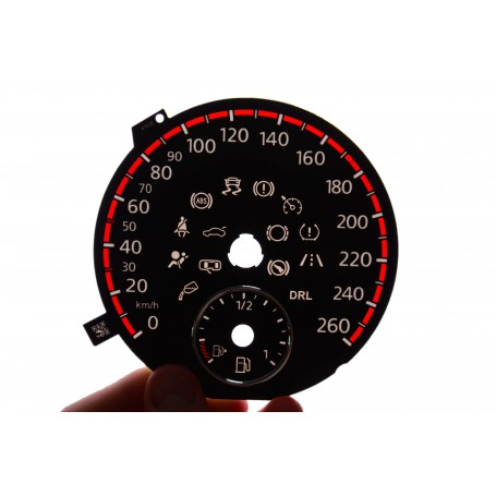 Volkswagen Golf 6 replacement dials in Golf GTI design for standard Golf 6 gauges