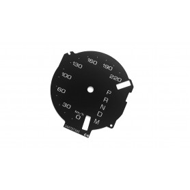 Lincoln MKX - replacement tacho dial gauges converted from MPH to Km/h
