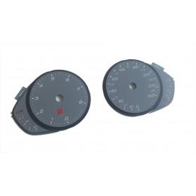 Audi A6 / S6 - replacement tacho dials gauges MPH to km/h // tacho counter