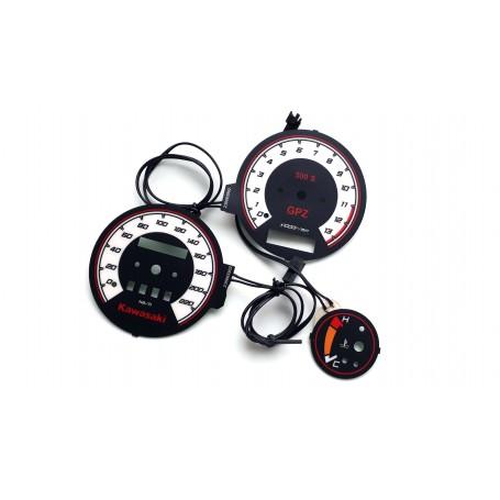 Kawasaki GPZ 500 S plasma tacho glow gauges tachoscheiben dials
