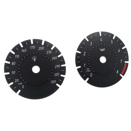 Maserati Levante V8 - Replacement tacho dials gauges - converted from MPH to Km/h tacho counter
