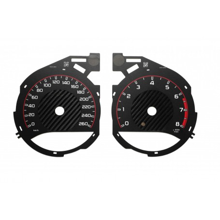Mercedes V Class - Replacement tacho dials - converted from MPH to Km/h like AMG