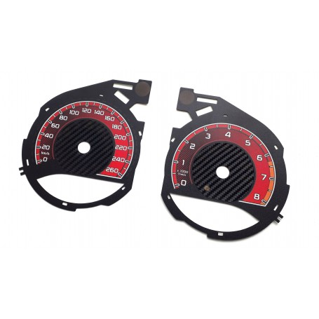 Mercedes V Class - Custom Replacement tacho dials instrument cluster- converted from MPH to Km/h