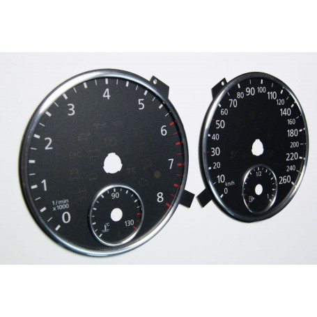 Volkswagen Tiguan - Replacement tacho dials - converted from MPH to Km/h