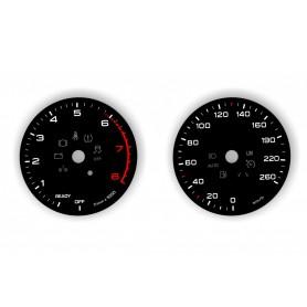 Audi Q5 8W 80A  - tarcze licznika zamiennik, zegary z MPH na km/h
