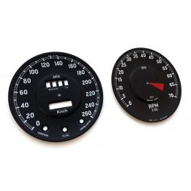 Jaguar E-Type 1961-1964 - tarcze licznika renowacja, wskaźniki zegary z MPH na km/h