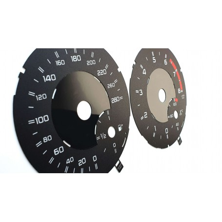 Mercedes-Benz G-Class W463 for AMG - shiny design - Replacement tacho dials - converted from MPH to Km/h