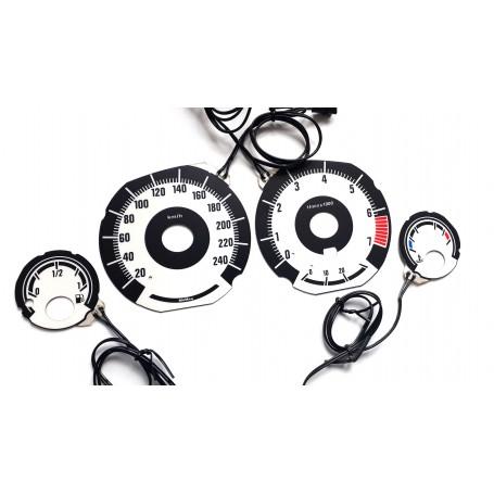 BMW E39 Wzór 3 świecące tarcze licznika, zegary INDIGLO