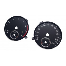 Volkswagen Golf 6 GTI - Replacement tacho dials, gauges, faces - conversion from MPH to Km/h