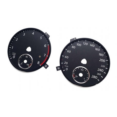 Volkswagen Golf 6 GTI - tarcze licznika zegary zamiennik z mph na kmh