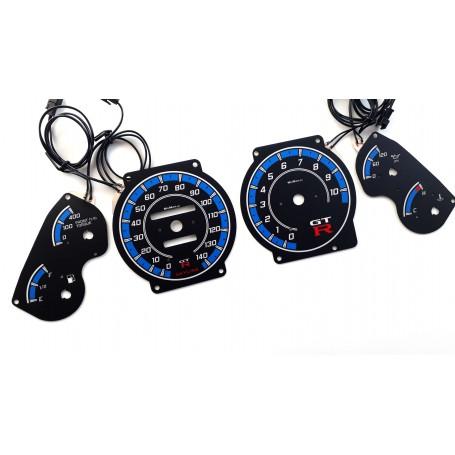 Nissan Skyline GTR R32 plasma tacho glow gauges tachoscheiben dials