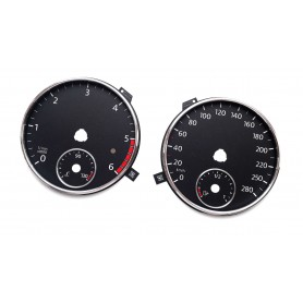 VW Scirocco 3 before lift REPLACEMENT tacho DIAL - CONVERTED FROM MPH TO KM/H