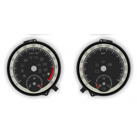 Skoda Octavia 3 - Replacement tacho dials, face counter gauges - converted from MPH to Km/h