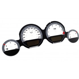 Dodge Charger - replacement tacho dials, face counter gauges MPH to km/h