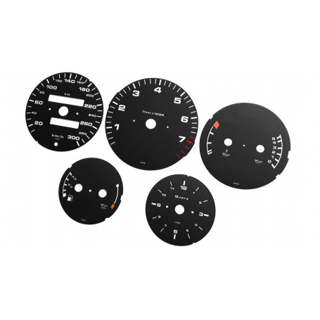 Porsche 911 964 - Replacement tacho dials gauges speedo - converted from MPH to Km/h counter