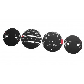 Porsche 928 944 - Replacement tacho dials gauges speedo - converted from MPH to Km/h counter