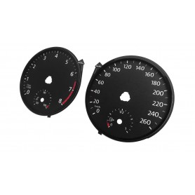 Volkswagen Polo VI 2017+ - Replacement tacho dials gauges - converted from MPH to Km/h // tacho counter usa