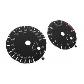 Infiniti QX30 - Replacement instrument cluster tacho dials, gauges, faces MPH to km/h